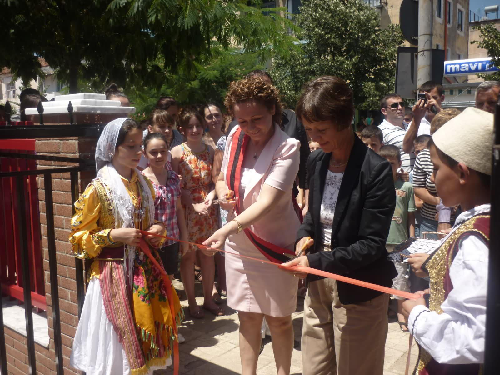 Inaugurimi i projektit per rrethimin e shkolles 9-vjecare